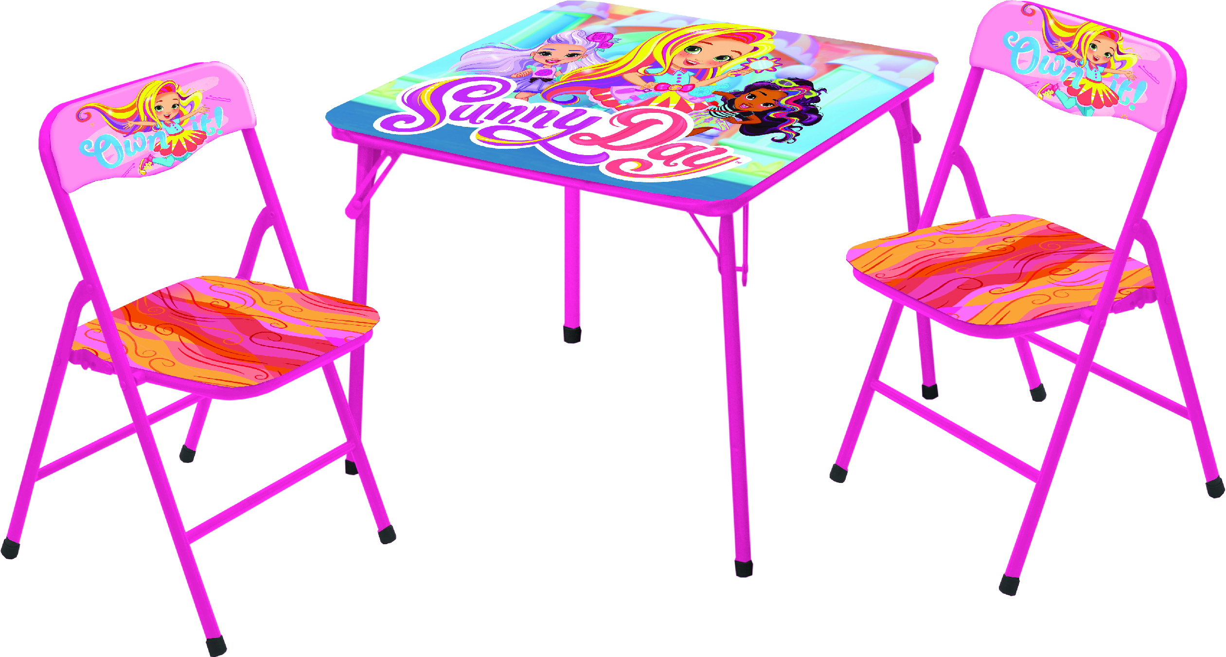 Mint Universal Despicable Me Fluffy The Unicorn 3 PC Table /& Chair Set