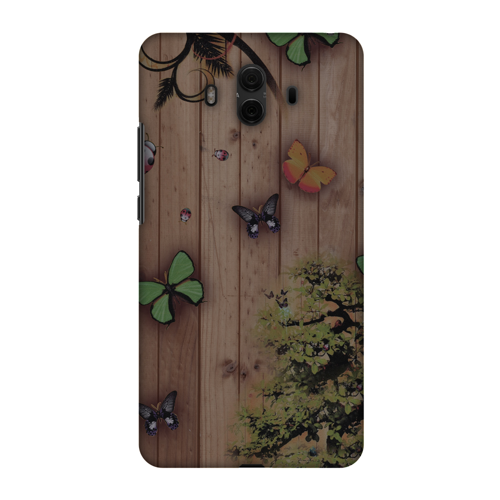 Huawei Mate 10 Case, Premium Handcrafted Printed Designer Hard ShockProof Case Back Cover for Huawei Mate 10 - Bonsai Butterfly