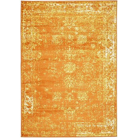 Unique Loom Sofia Orange Area Rug