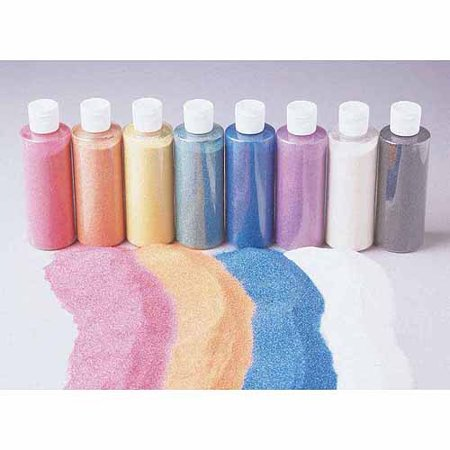 School Smart Scenic Art Sand - 12 Ounce - Set of 8 - Assorted Colors
