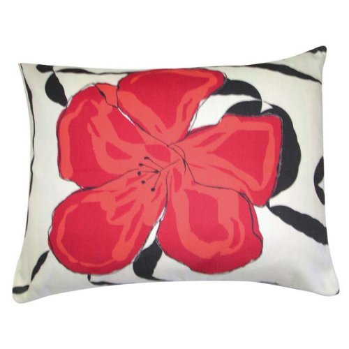 Magnolia Casual Red Hibiscus Pillow