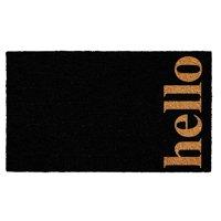 """Calloway Mills Vertical Hello Outdoor Doormat Black/Natural 24"""" x 36"""""""