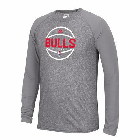 ec977bd3199e Chicago Bulls NBA Adidas Grey Ultimate Tee Climalite Long Sleeve Raglan Performance  T-Shirt For Men - Walmart.com