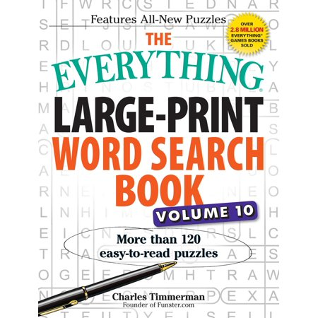 The Everything Large-Print Word Search Book, Volume 10 : More Than 120 Easy-to-Read Puzzles (10 Halloween Words)