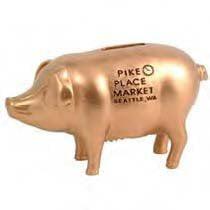 Seattle Pike Place Public Market Poly Pig Piggy Bank