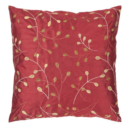"""Surya HH-BLSM-1818 Blossom 18"""" Wide Square Botanical Polyester Accent Pillow Cov"""