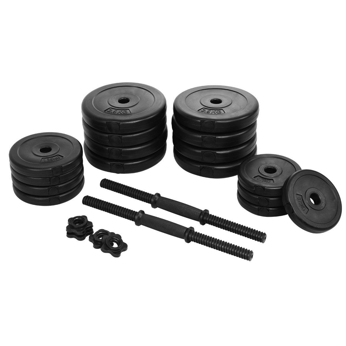 Gymax Weight Dumbbell Set 64 LB Adjustable Cap Gym Barbell Plates Body Workout - image 4 of 9