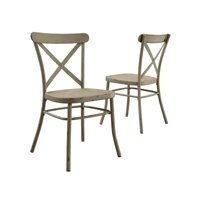 Better Homes and Gardens Collin Distressed White Dining Chair, Set of 2, Multiple Finishes