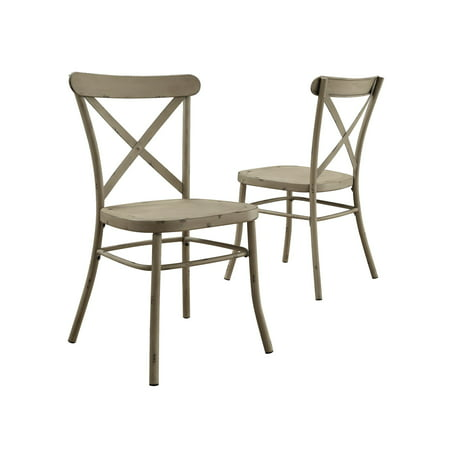 Better Homes And Gardens Collin Distressed White Dining Chair Set Of 2