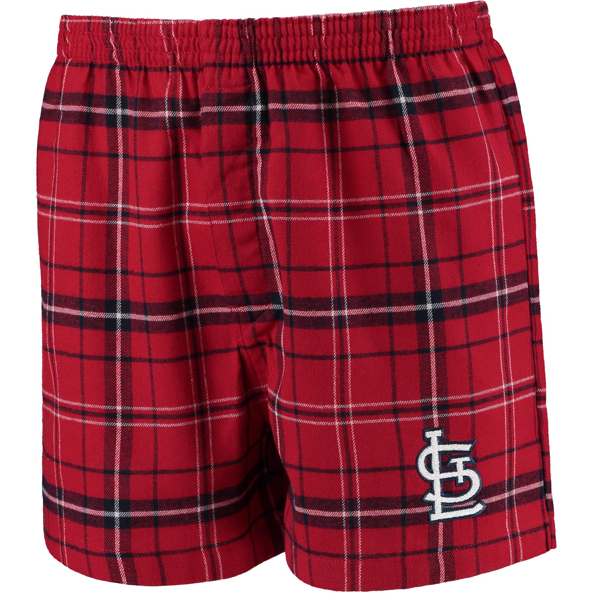 Men's Concepts Sport Red/Navy St. Louis Cardinals Ultimate Flannel Boxer Shorts