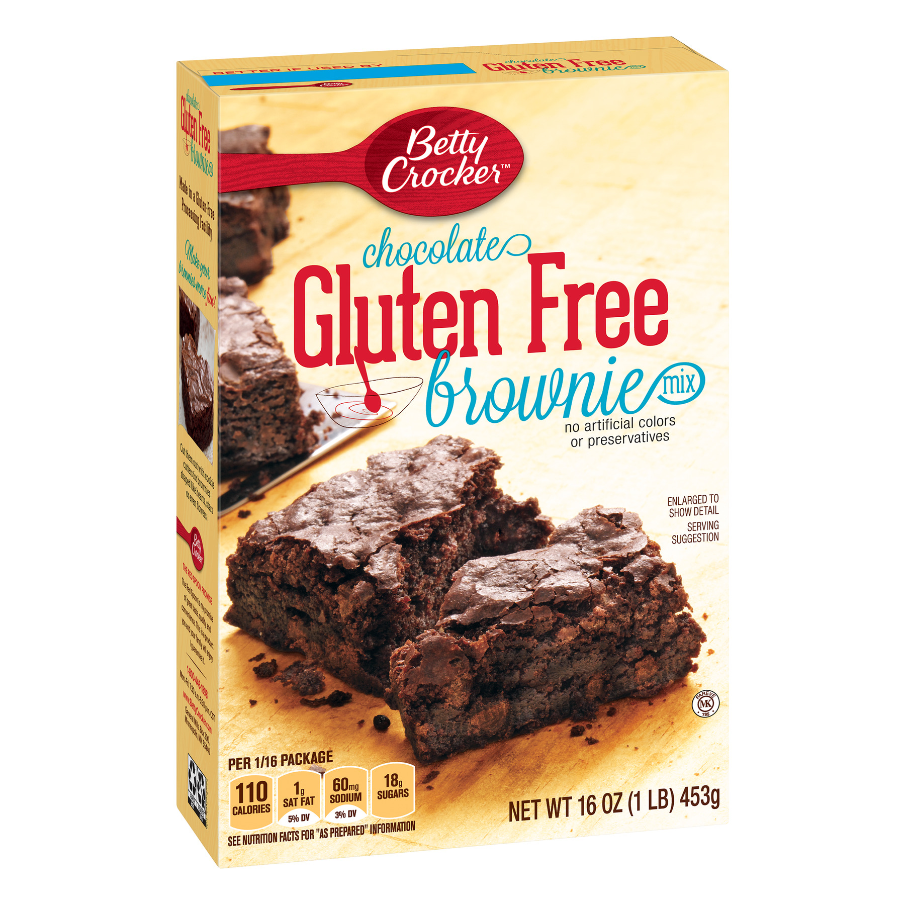 Betty Crocker Gluten Free Brownie Mix Chocolate, 16 oz