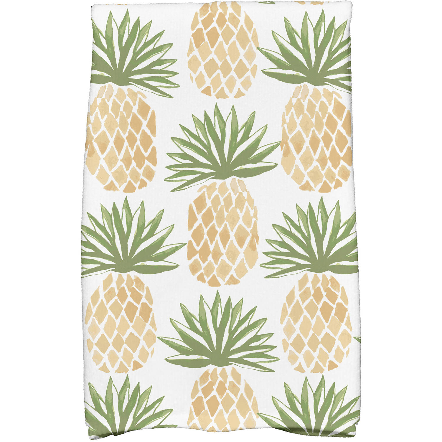 "Simply Daisy 16"" x 25"" Tossed Pineapple Geometric Print Kitchen Towels by E By Design"