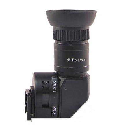 - Polaroid 1X-2.5X Right Angle Viewfinder for Canon EOS, Nikon, Olympus, Panasonic, Sony, & Pentax Digital SLR Cameras