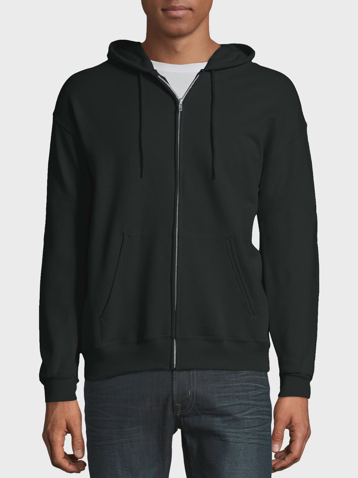 Hanes Men/'s Ultimate Cotton Chocolate Fleece Zip Hoodie Jacket 38-40 Medium