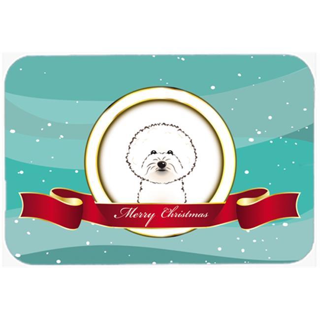 Carolines Treasures BB1527MP Bichon Frise Merry Christmas Mouse Pad, Hot Pad & Trivet - image 1 de 1
