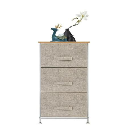 Zimtown 3 Drawer Dresser Storage Tower Organizer Unit with Sturdy Steel Frame Underbed Drawer Unit
