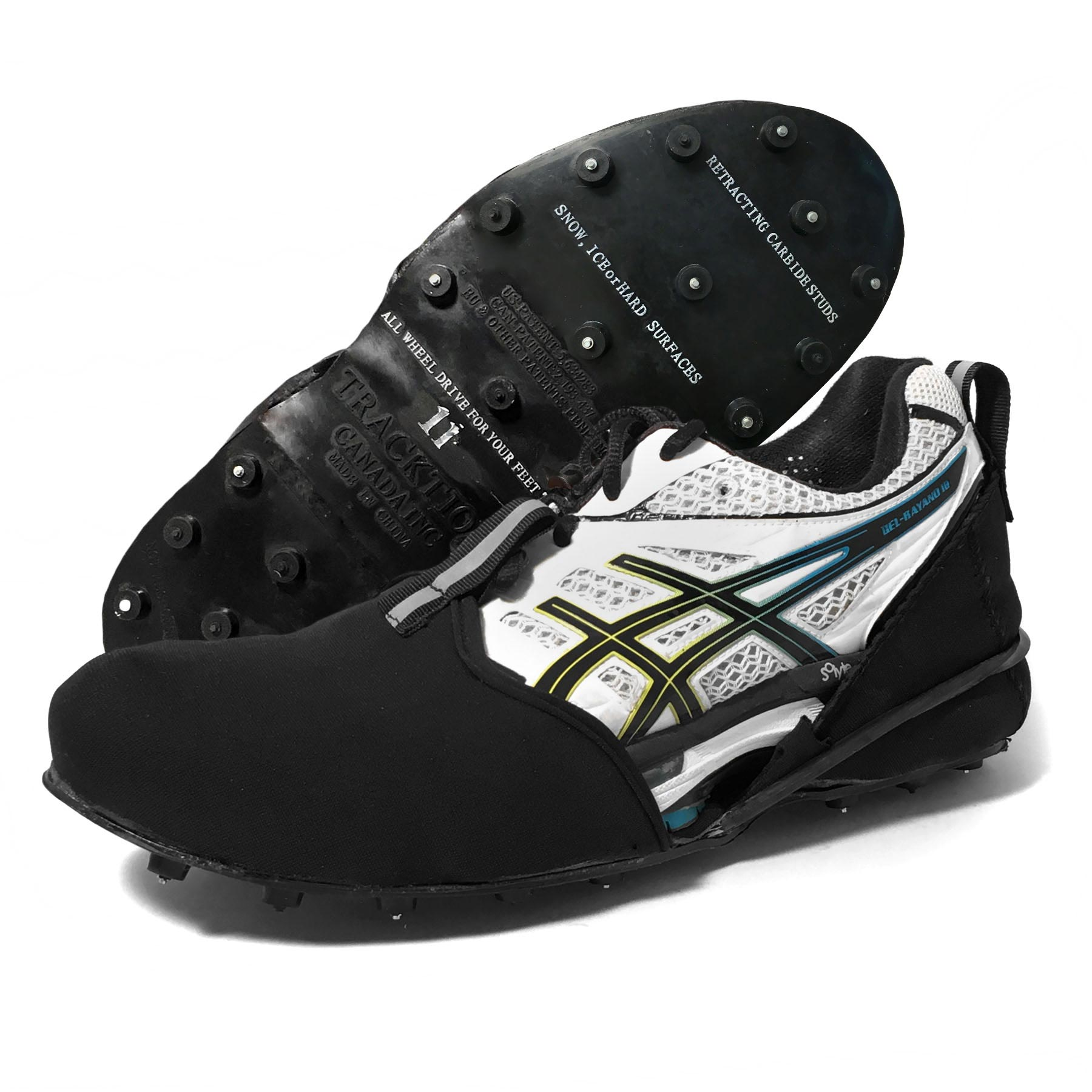 Tracktion Shoe-Soc Hi Performance Ice Cleats - All Wheel Drive For Your Feet - image 2 de 2