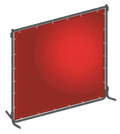 Westward 22RN71 Red PVC/Steel Welding Screen