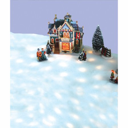 5' Pre-Lit Snow Blanket For Mantle or Christmas Village Display - Clear Lights ()