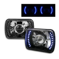 1995, 1996, 1997 Toyota Tacoma 7x6 H6052/H6054 Semi-Sealed Beam Black Diamond Blue LED Projector Headlights