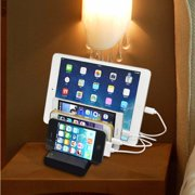 Kadell 4-Port Multi USB Charging Stand Organizer Desktop Dock Universal Station for iPhones, for Samsung, for , Smart Cell Phone & Other USB-Charged Device