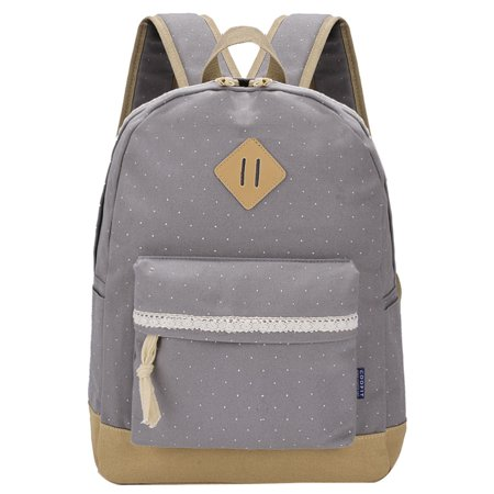 Canvas School Backpack,Coofit Women Girls Fresh Lace Polka Dot Backpack Cute Travel Bag Shoulder Laptop Handbags Rucksack for Women Ladies Girls](Polka Dot Bag)