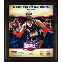 """Hakeem Olajuwon Houston Rockets Framed 15"""" x 17"""" Hardwood Classics Player Collage"""
