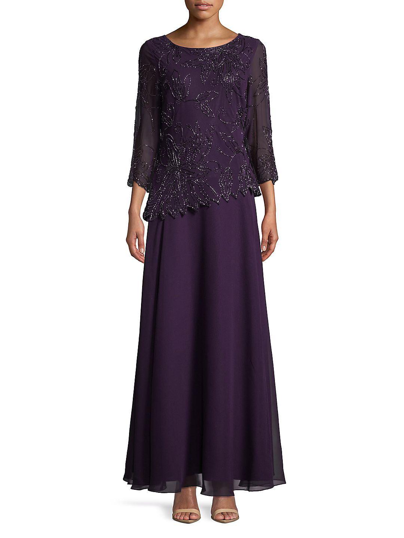 Quarter-Sleeve Asymmetric Dress