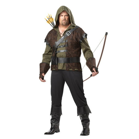 Robin Hood Adult Plus Halloween Costume - Robin Adult Costume