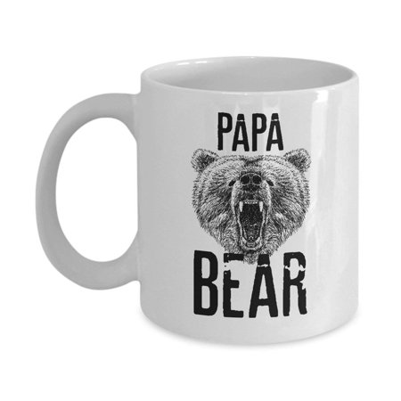 Papa Bear Coffee & Tea Gift Mug, Gifts from a Daughter, Son or Wife To Greet Dad A Happy Fathers Day, Best Ideas & Party Supplies for Men - Best Halloween Duo Ideas