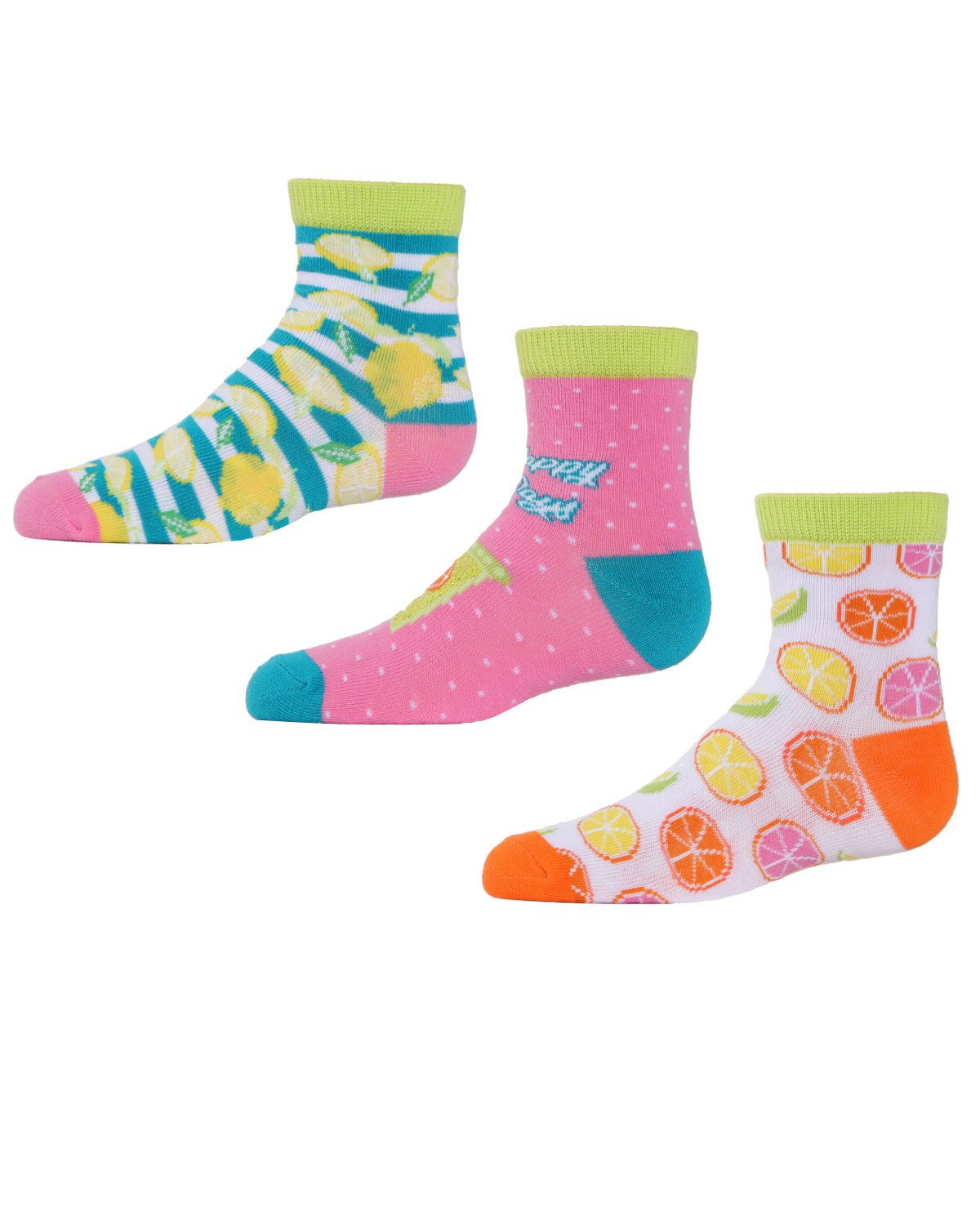 Mens athletic low cut Ankle sock oranges and lemons Fit Short Socks