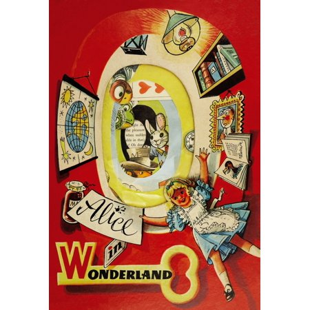 A Westminster Pop-up Book for Alice in Wonderland with large pop-up scenes and additional color illustrations in text Poster Print by unknown (Additional Colour Print)
