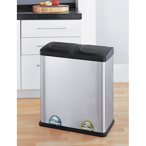 Neu Home 16-Gallon 2-Section Recycle Bin