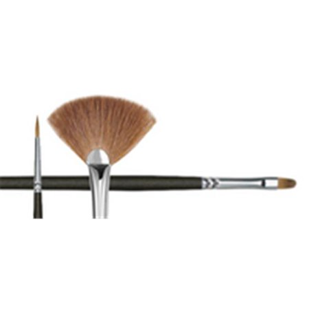 Princeton Art & Brush Co - Natural Red Sable Oil and Acrylic Brush - Round - 2/0 (Sable Brush Cats)