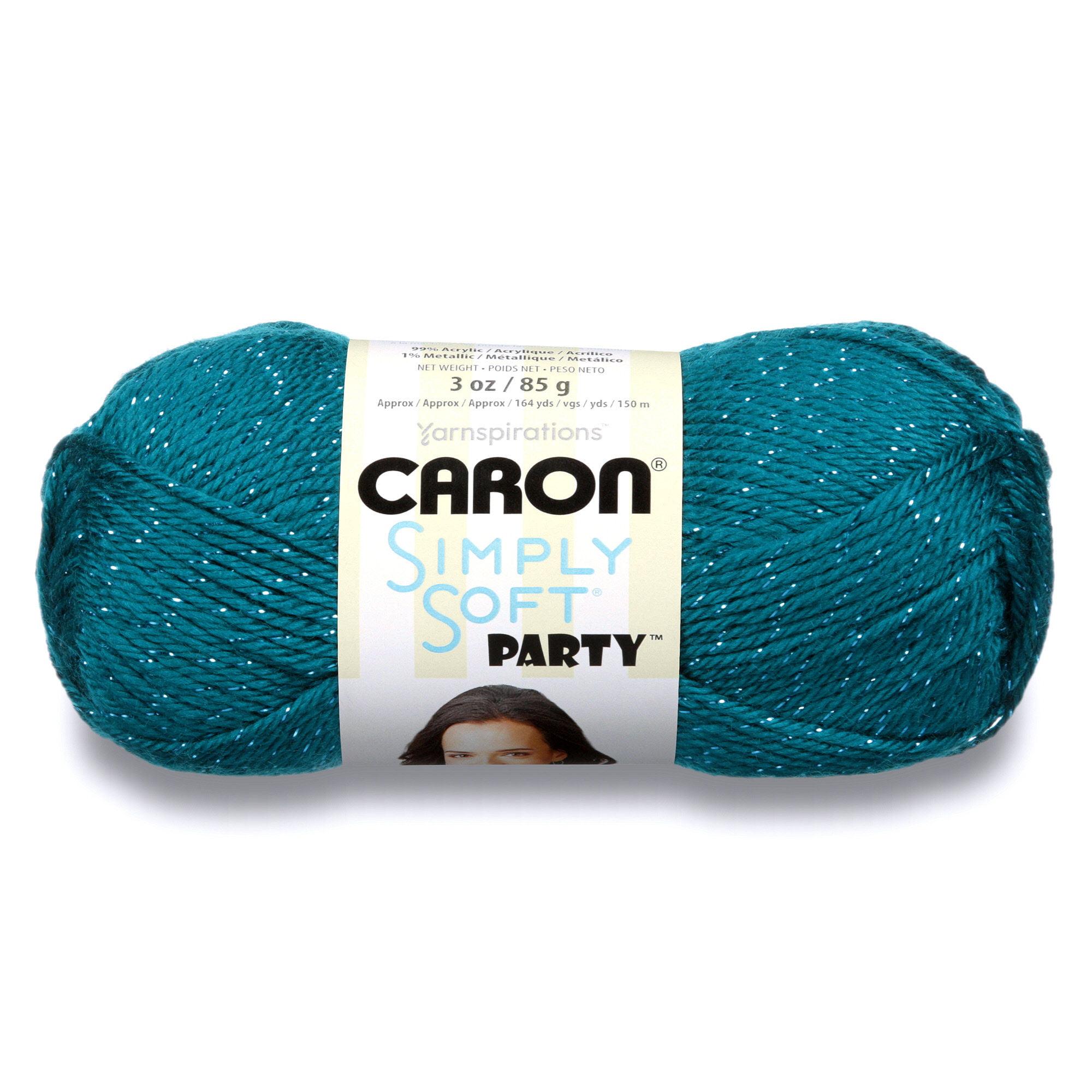 Caron Simply Soft Party Teal Sparkle Yarn, 1 Each