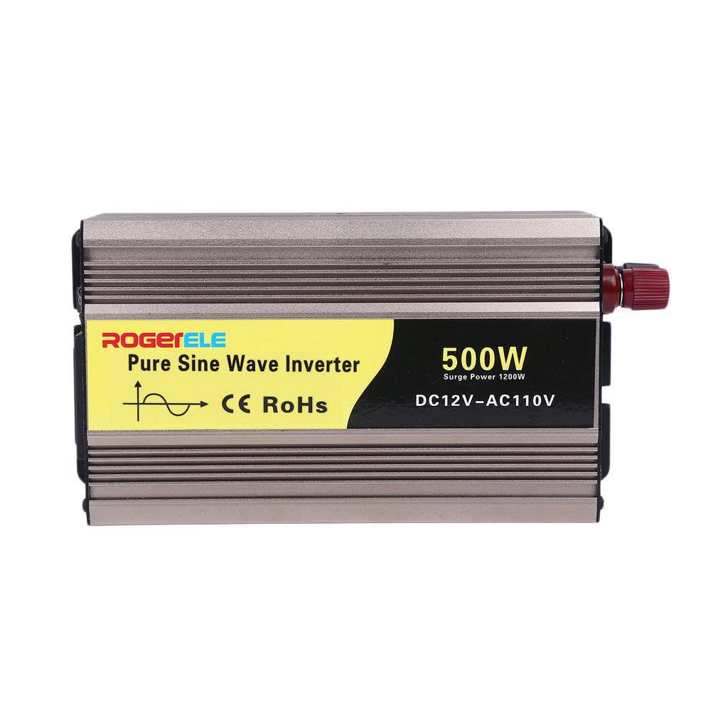 High Conversion USB Car Inverter 500W DC12V To AC110V Pure Sine Wave Inverter