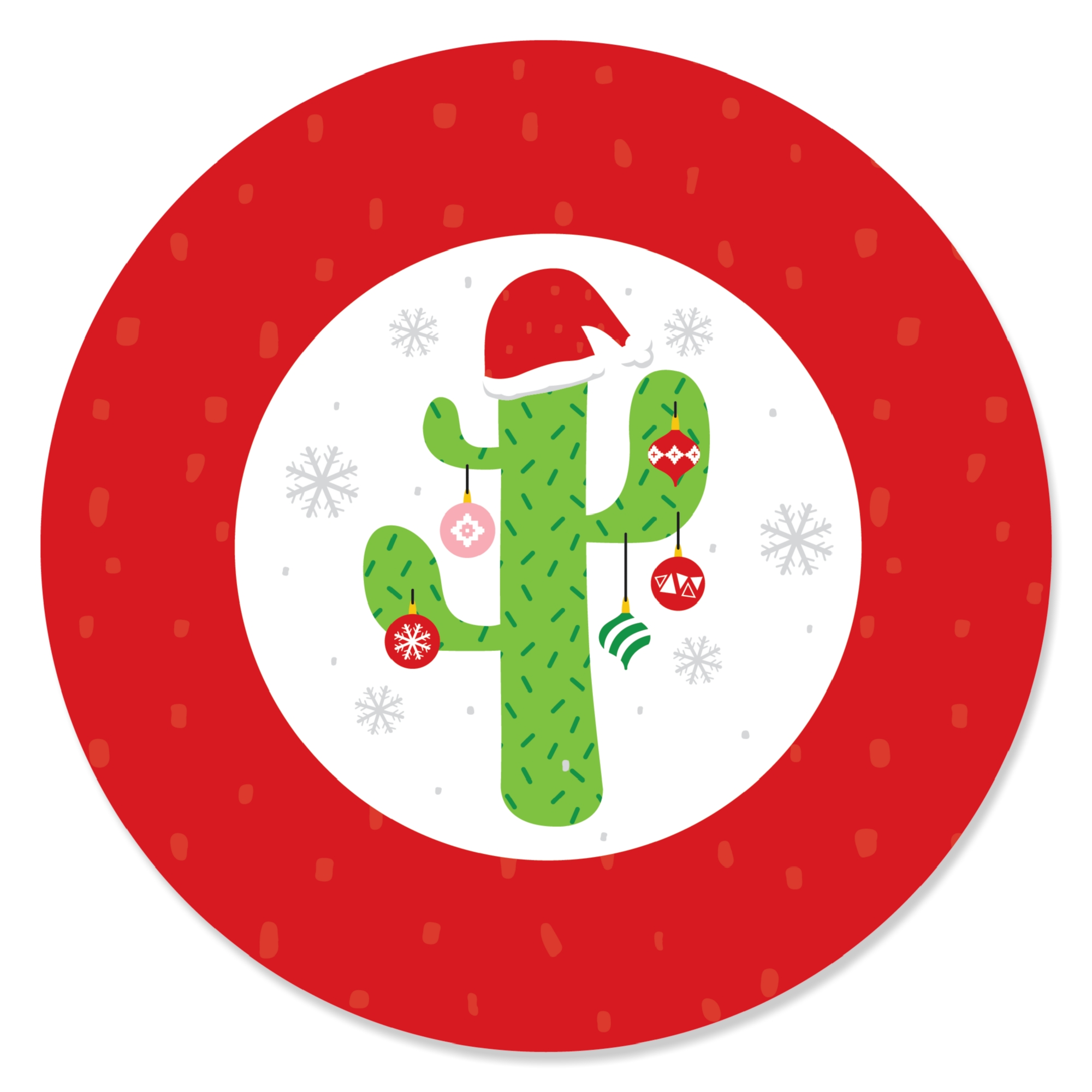 Merry Cactus - Christmas Cactus Party Favor Gift Tags (Set of 20)