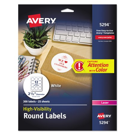 AveryR White HighVisibility Labels For Laser Printers - Avery water bottle template