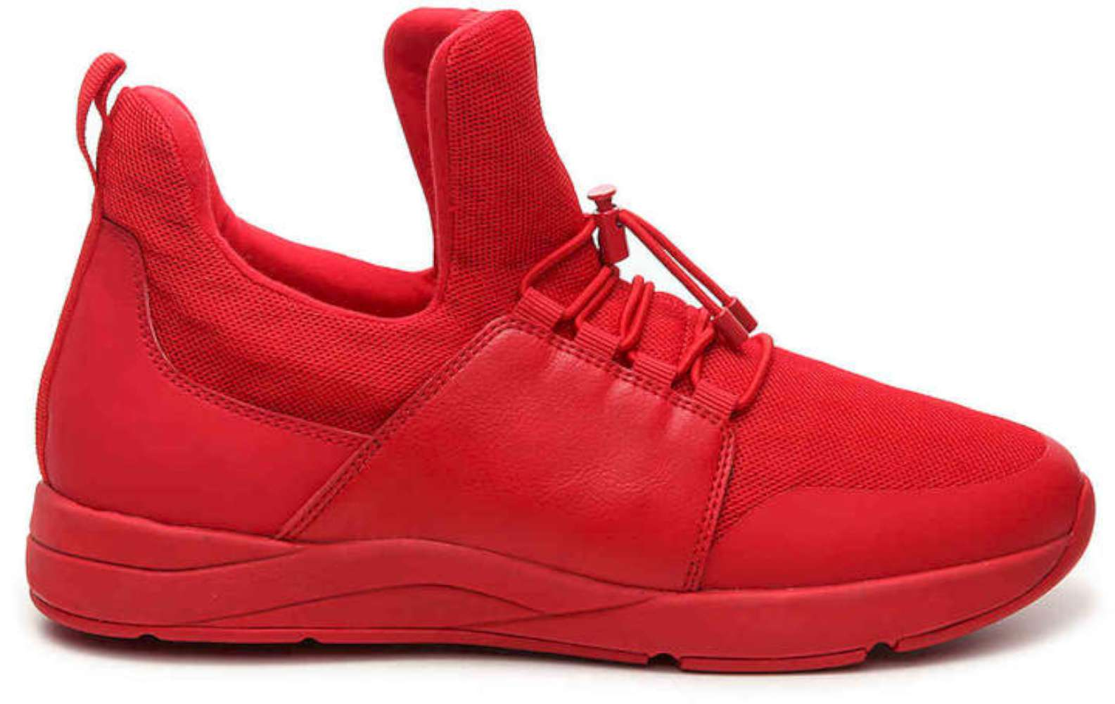 Aldo Womens Haeviel Hight Top Bungee Fashion Sneakers, Red, Size 8.0