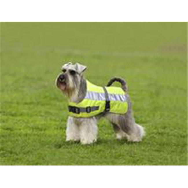 American Pet Diner 100DFHV014 Flectalon Dog Jacket Hi-Viz 14 in.