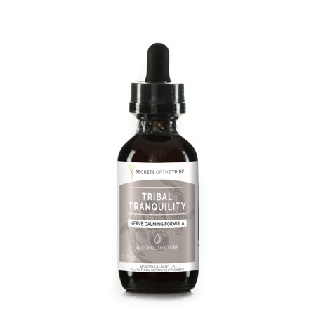 Tribal Tranquility Alcohol Extract, Tincture, Skullcap, Lemon Balm, Holy Basil, Reishi Mushroom, California Poppy, Valerian. Nerve Calming Formula 2 -