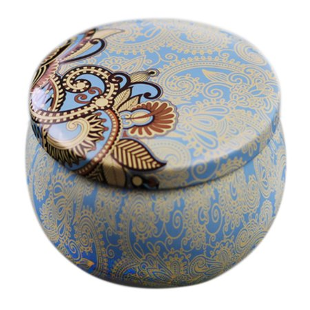 Drum-shaped Candy Cookie Box Rose Tea Pot Tin Box Small Fresh Home Garden Personality Candy Box Home Garden Festive Party Supplies Tea Tin Box
