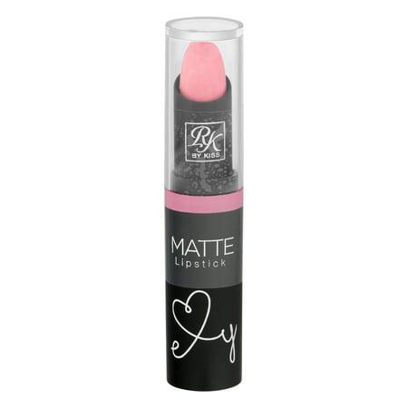 (2 Pack) KISS Ruby Kisses Matte Lipstick, Baby Pink, 0.12 fl oz