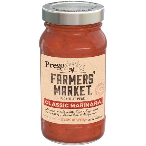 Prego Farmers' Market Classic Marinara, 23.5 oz.