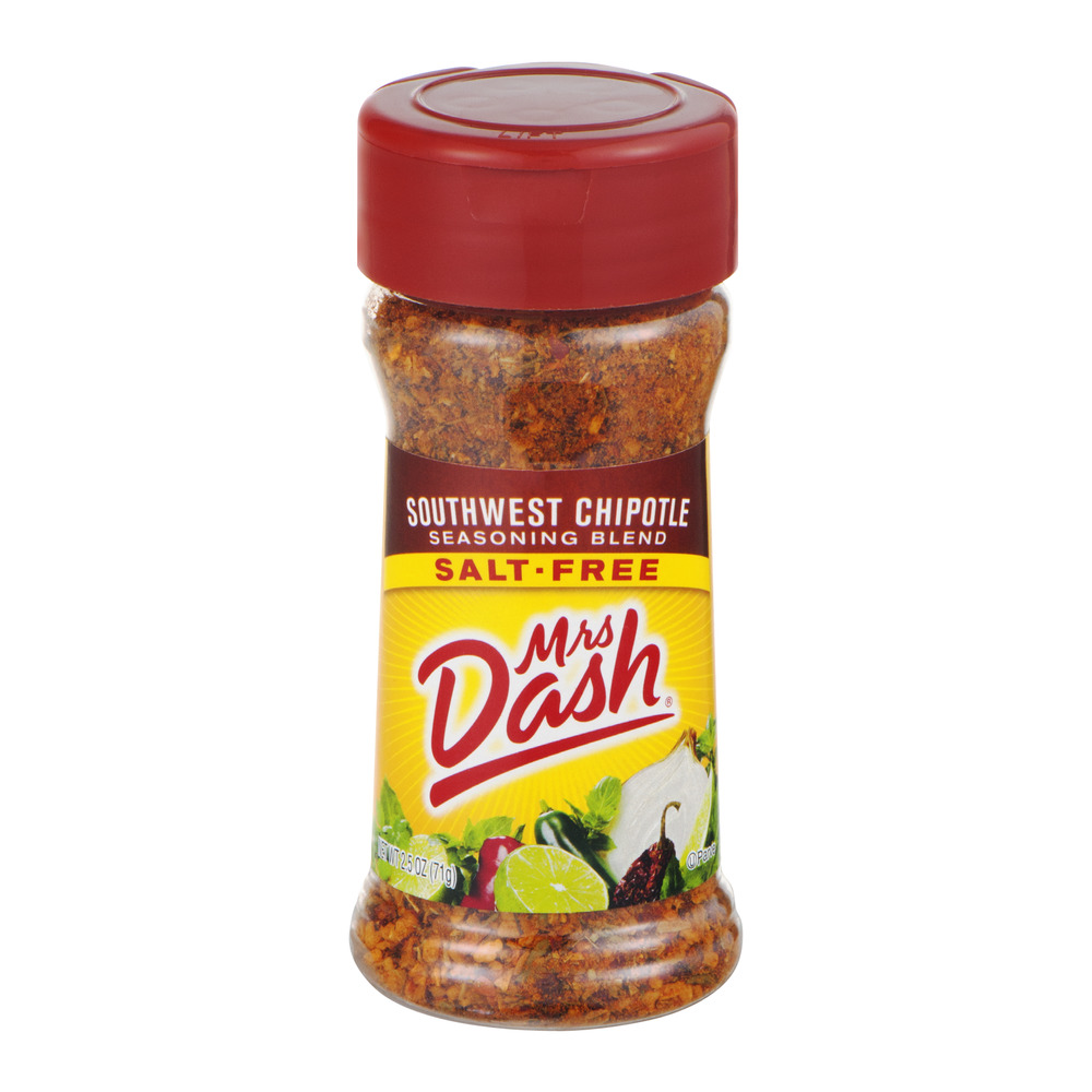 MRS DASH Southwest Chipotle Salt-Free Seasoning Blend 2.5 OZ SHAKER