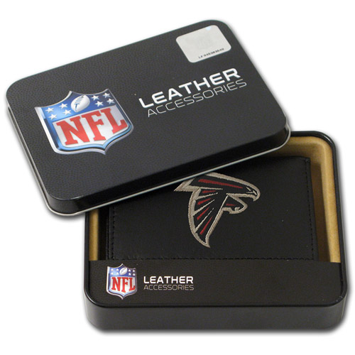 NFL - Men's Atlanta Falcons Embroidered Trifold Wallet