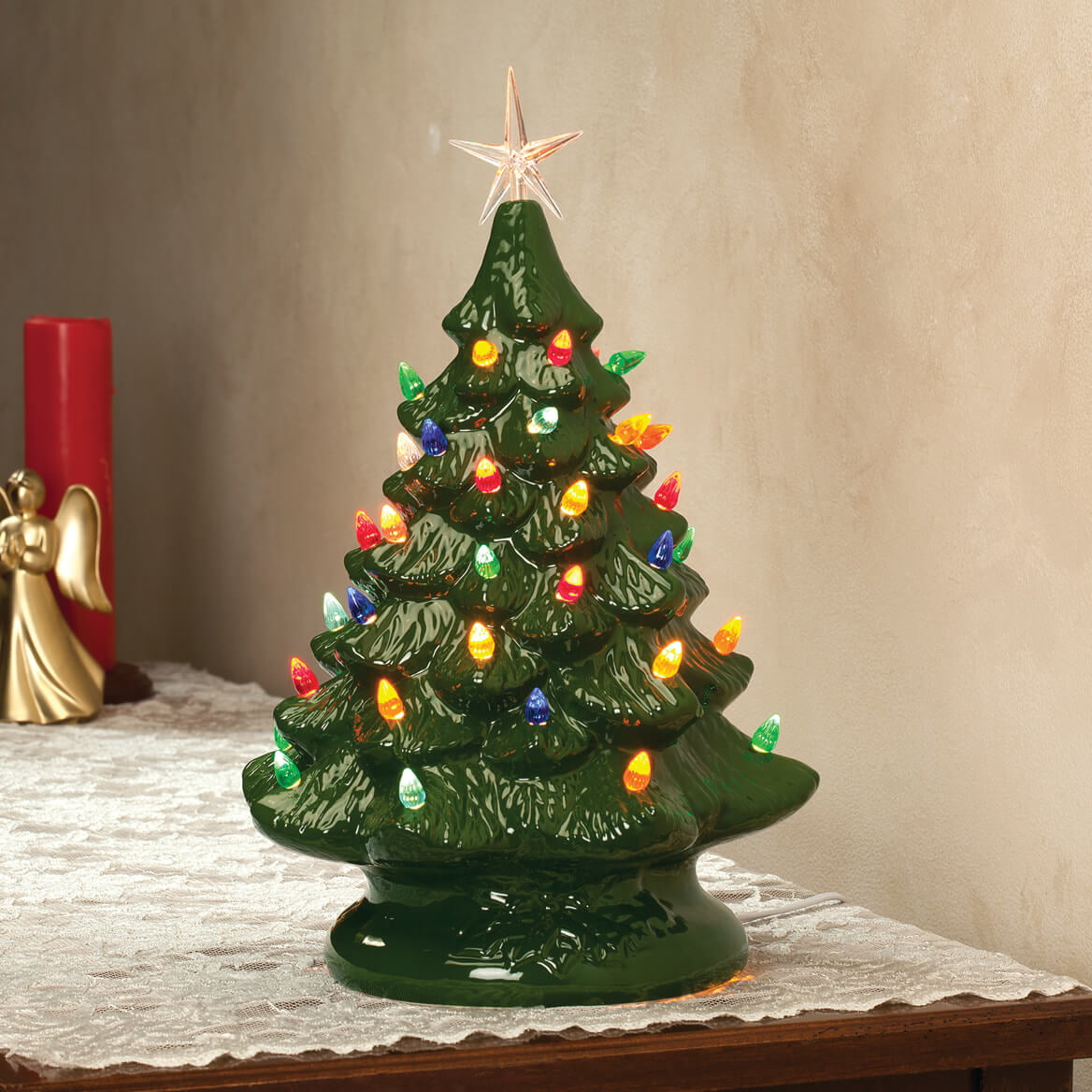 green ceramic christmas tree walmartcom