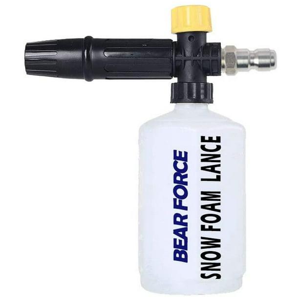Electric Pressure Washer Diy Foam Cannon With 1 4 Quick Release Connector Adjustable Snow Foam Lance 0 6l Bottle Jet Car Wash Foam Blaster Soap Gun Walmart Com Walmart Com