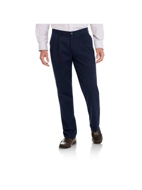 George Big Men's Pleated 100% Cotton Twill Pant with Scotchgard