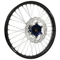 Warp 9 Complete Wheel Kit - Front 21 x 1.60 Black Rim/Blue Hub/Silver Spokes and Nipples